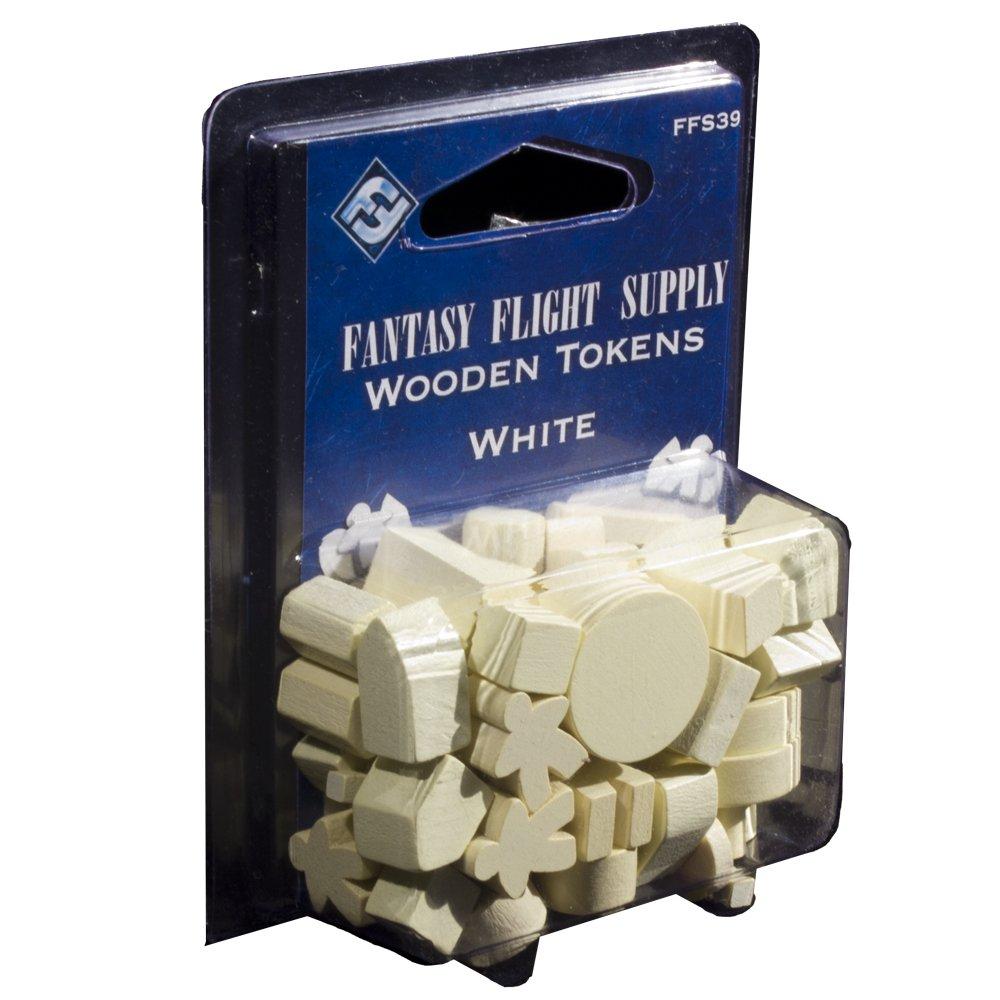 Fantasy Flight Supply: Wood Tokens - White