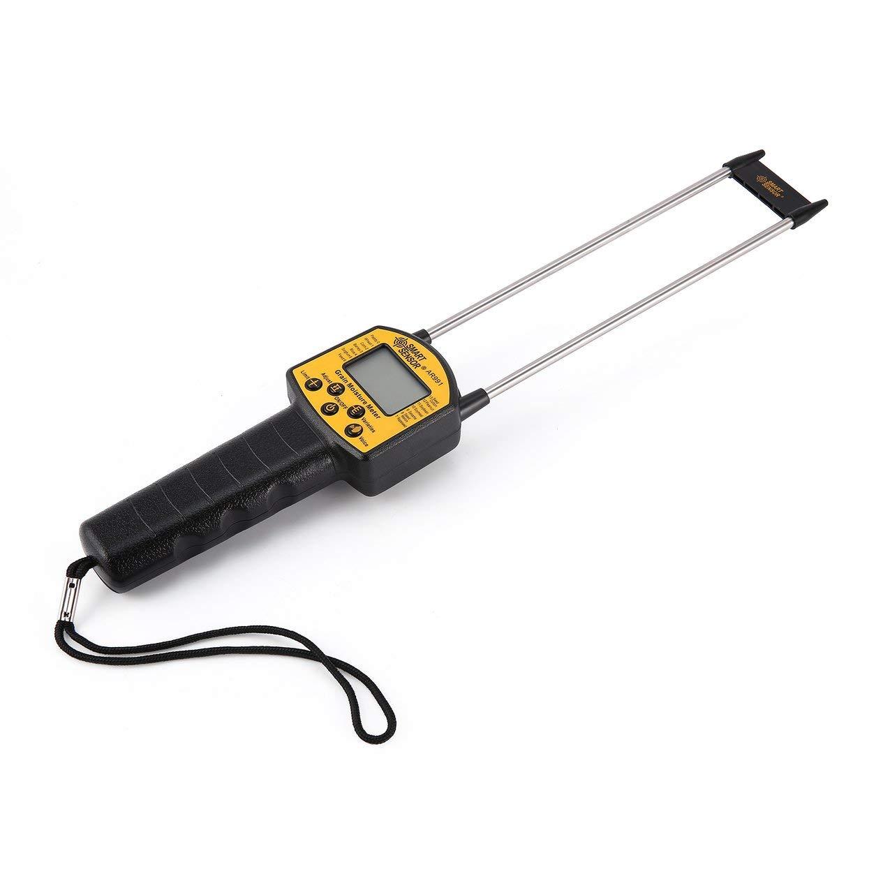 SMART SENSOR AR991 Analizador de humedad digital profesional para cereales Medidor de humedad Medidor de cereales con maíz, Yello y grano negro: Amazon.es: ...