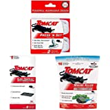 Tomcat Press 'N Set Mouse Trap 2PK with Mouse Glue Trap w/Eugenol 6PK and Tier 1 Refillable Mouse Bait Station