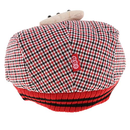 Copricapo Design Del Del Animati Cappello In Magideal Cappello Il Cappello Dei Orso Bambini Di Rosso Bambino Tartan Berretto Cartoni Scherza Bambino H1TTwq5x7