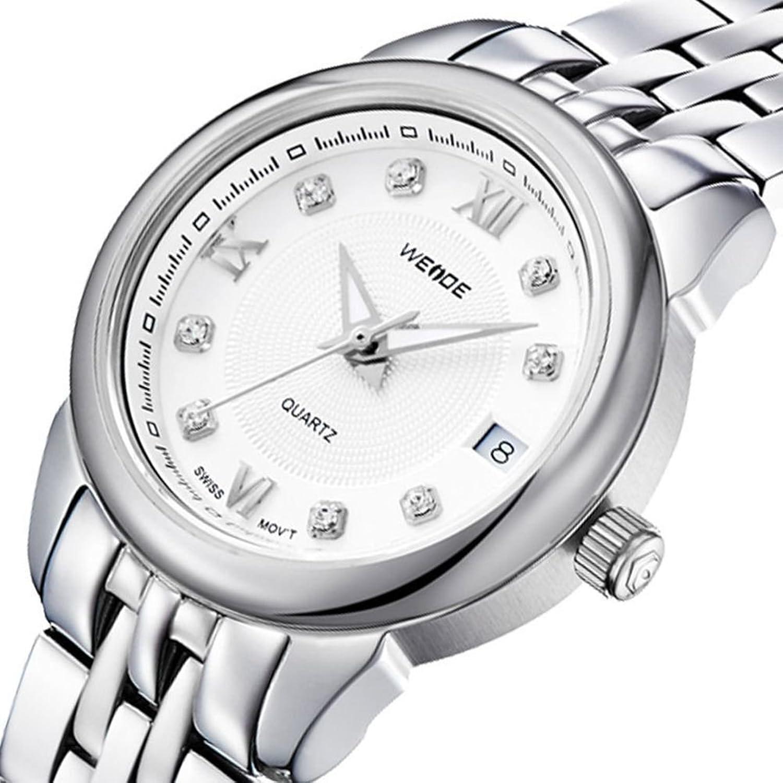 Le luxe des hommes de montres Armband en acier inoxydable montre avec calendrier