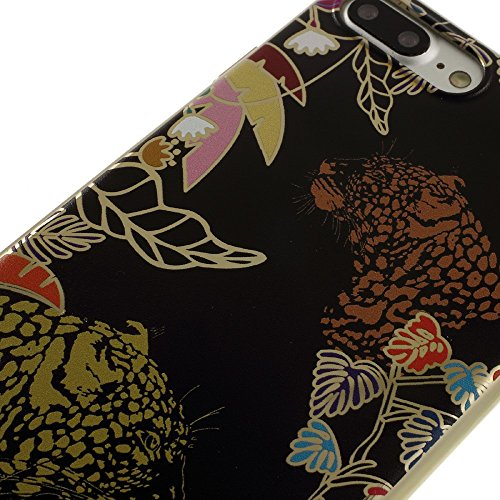DEVIA Luxy Series Emboss Printing Electroplating PC Back Tasche Hüllen Schutzhülle - Case für iPhone 7 Plus - Leopard