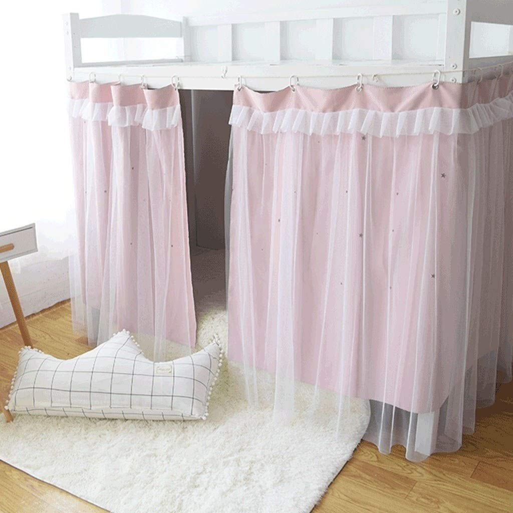 Yff Wz Cabin Bunk Bed Tent Curtain Cloth Dormitory Mid Sleeper Bed Canopy Spread Blackout Curtains Dustproof Mosquito Protection Screen Net Size 1 2mx2m 1 5mx2m Color Pink Size 1 2m Buy Online In El Salvador At Elsalvador Desertcart Com