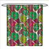 Hot Pink and Lime Green Shower Curtain smllmoonDeco Floral Shower Curtains Digital Printing Tropical Blossom Caribbean in Exotic Tones Hyacinth Hippie Print Satin Fabric Bathroom Washable W72 x L72 Jade and Lime Green Hot Pink