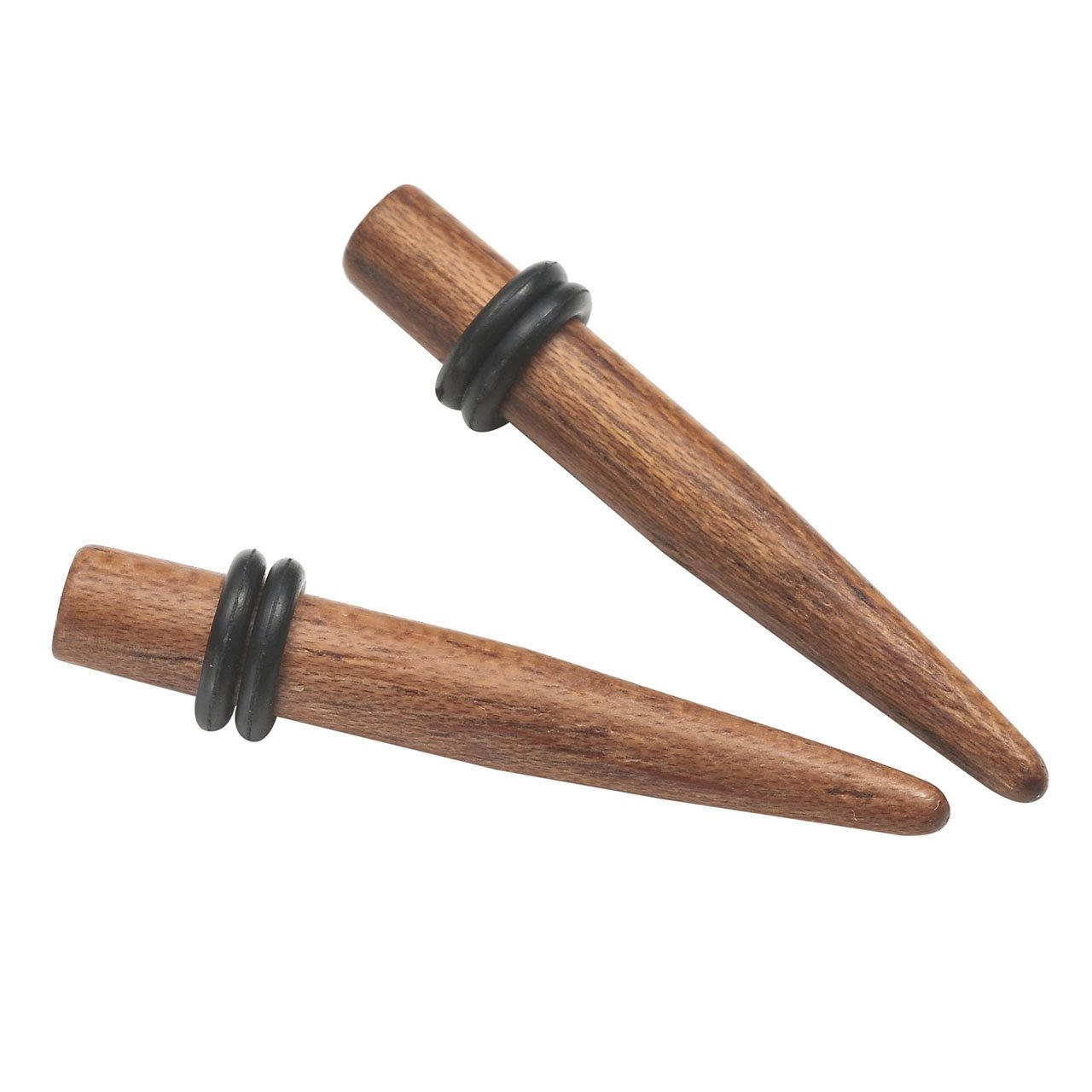 BOPREINA 2PCS//8PCS Organic Rose Wood Ear Tapers Natural Ear Gauges Stretchers Kits Ear Plugs with Silicone O-ring 4G//2G//0G//00G KKUS003358
