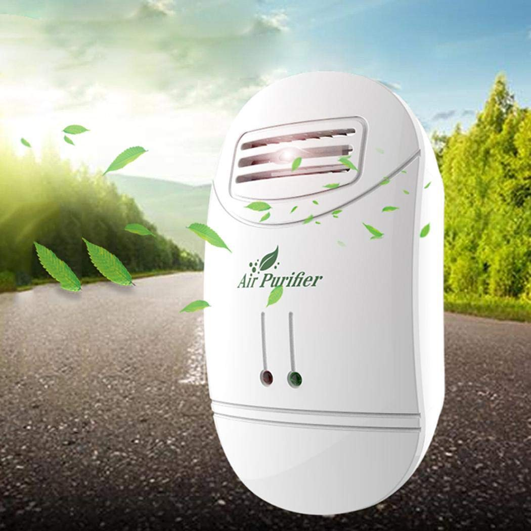 Loveje US Plug Mini Air Purifier Freshener Reduces Odors Dust Home Travel