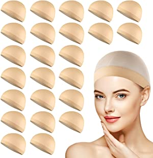 MYKURS Wig Caps, Neutral Nude Beige Stocking Wig Caps for Women, 24 Pack
