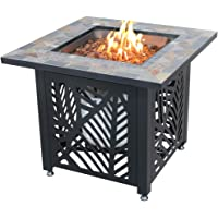 Endless Summer GAD1429SP, Gas Outdoor Fireplace with Slate Mantel