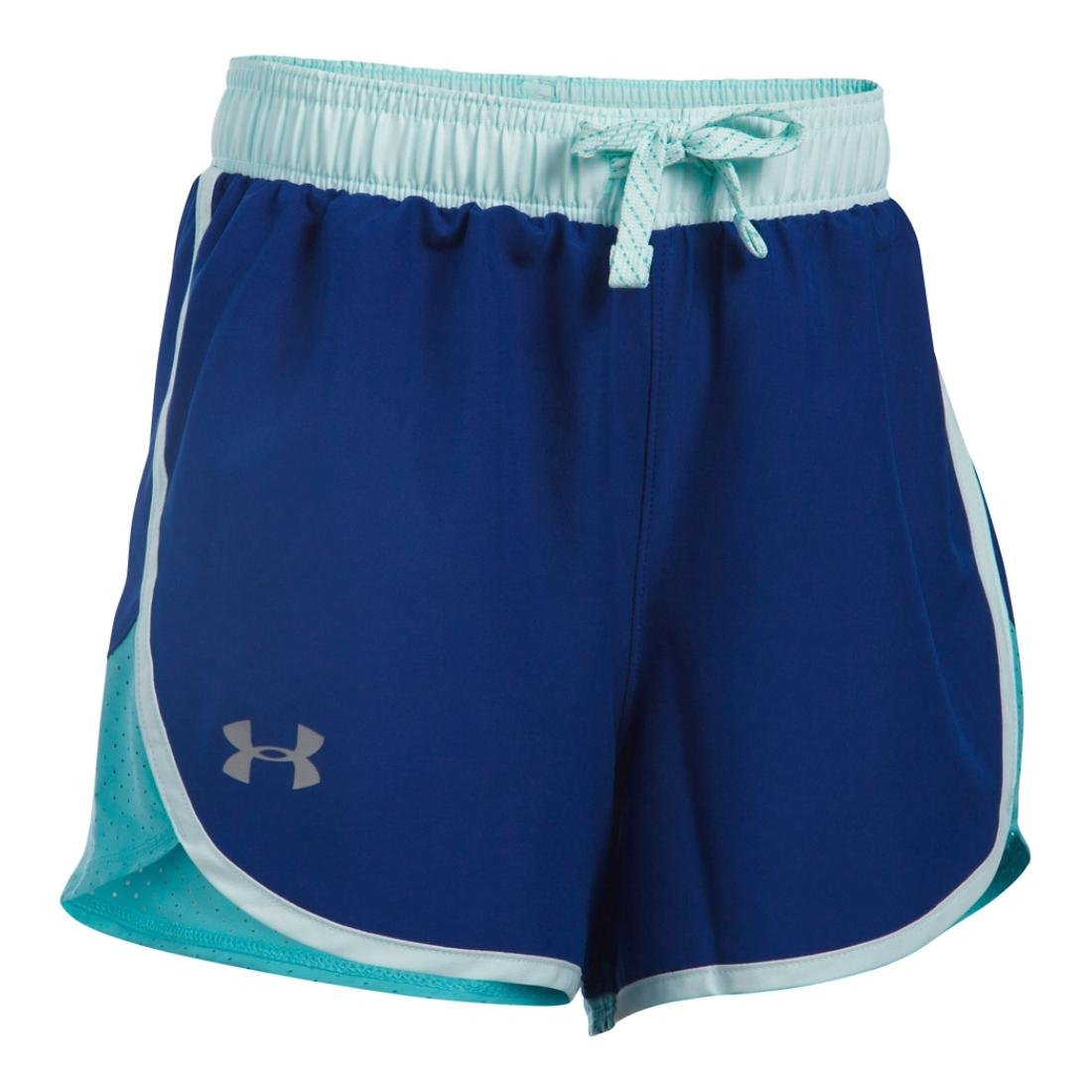 Under Armour Girls Fast Lane Short, Caspain/Aqua Falls, XL (18-20 Big Kids) x One Size