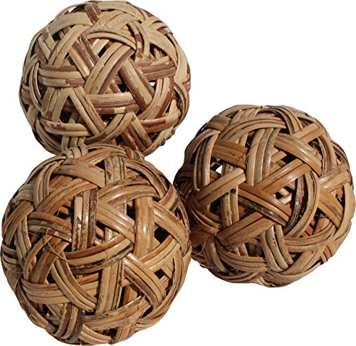 Raan Pah Muang Wide Weave Rattan Mini Sepak Takraw Thai Footsack Ball Set of 5 Balls