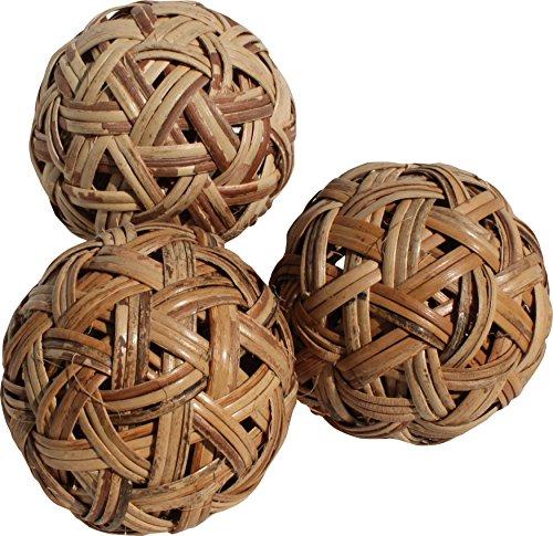 RaanPahMuang Wide Weave Rattan Mini Sepak Takraw Thai Footsack Ball Set of 5 balls