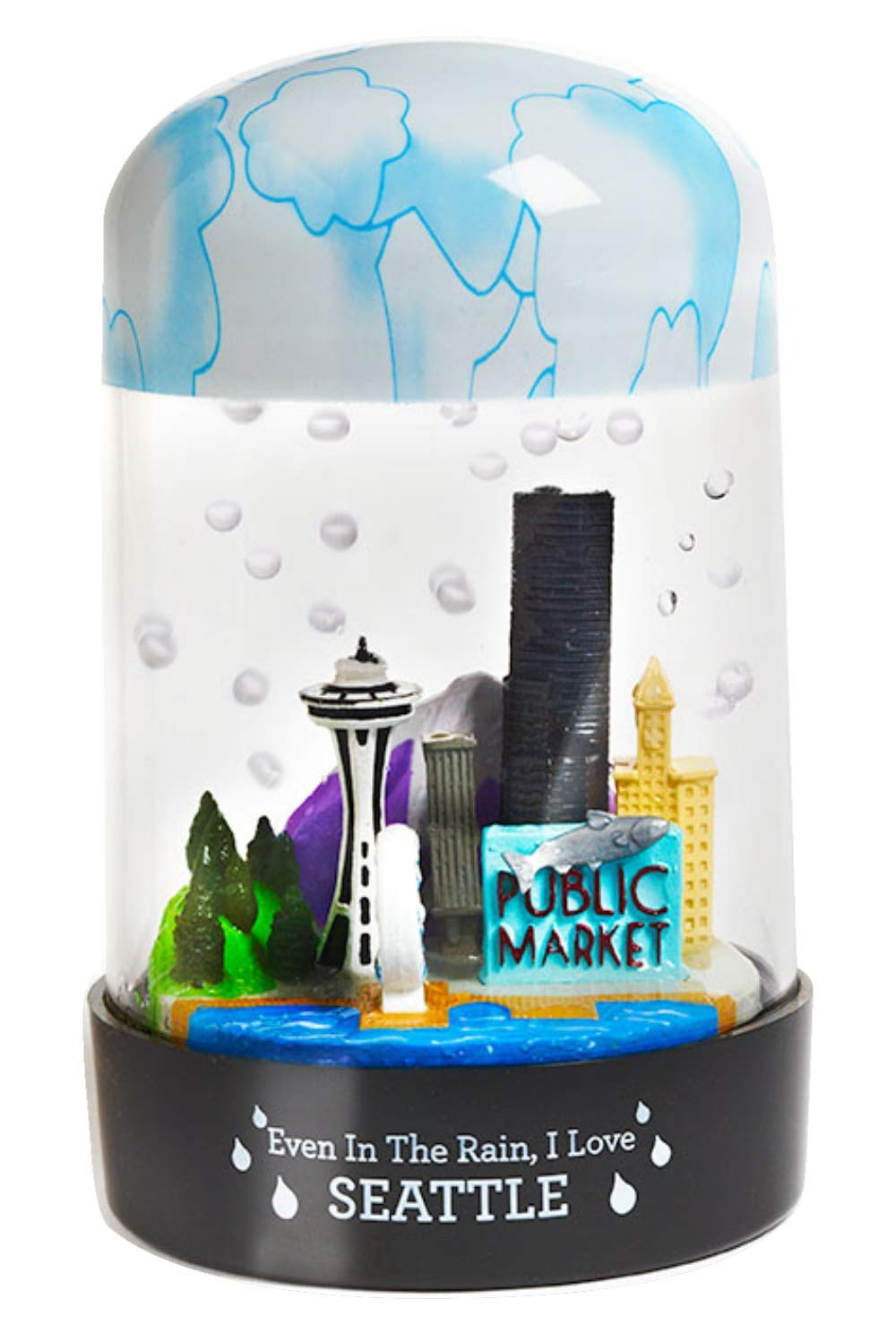 RainGlobes: Seattle - The Globe That Rains! by RainGlobes