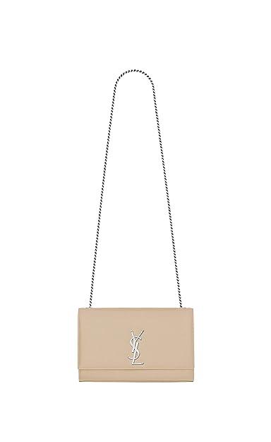 5d0e35a4639 Paper Yves Saint Laurent monogram kate kate medium in grain de poudre  embossed leather shoulder/crossbody bag ... (apricot): Handbags: Amazon.com