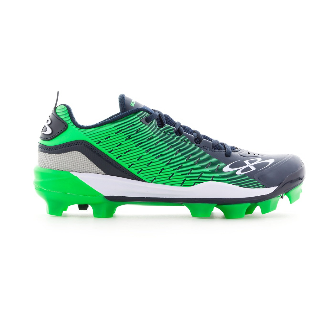 Boombah Men's Catalyst Molded Cleats - 16 Color Options - Multiple Sizes B079SZ9NXN 11|Navy/Lime Green