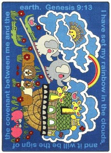 Faith Based Rainbow's Promise Kids Rug Rug Size: 10'9'' x 13'2'' by Joy Carpets