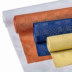 """'Mantel de papel """"goldica Swing Party 8x 1m amarillo en rollo (cantidad: 3)"""