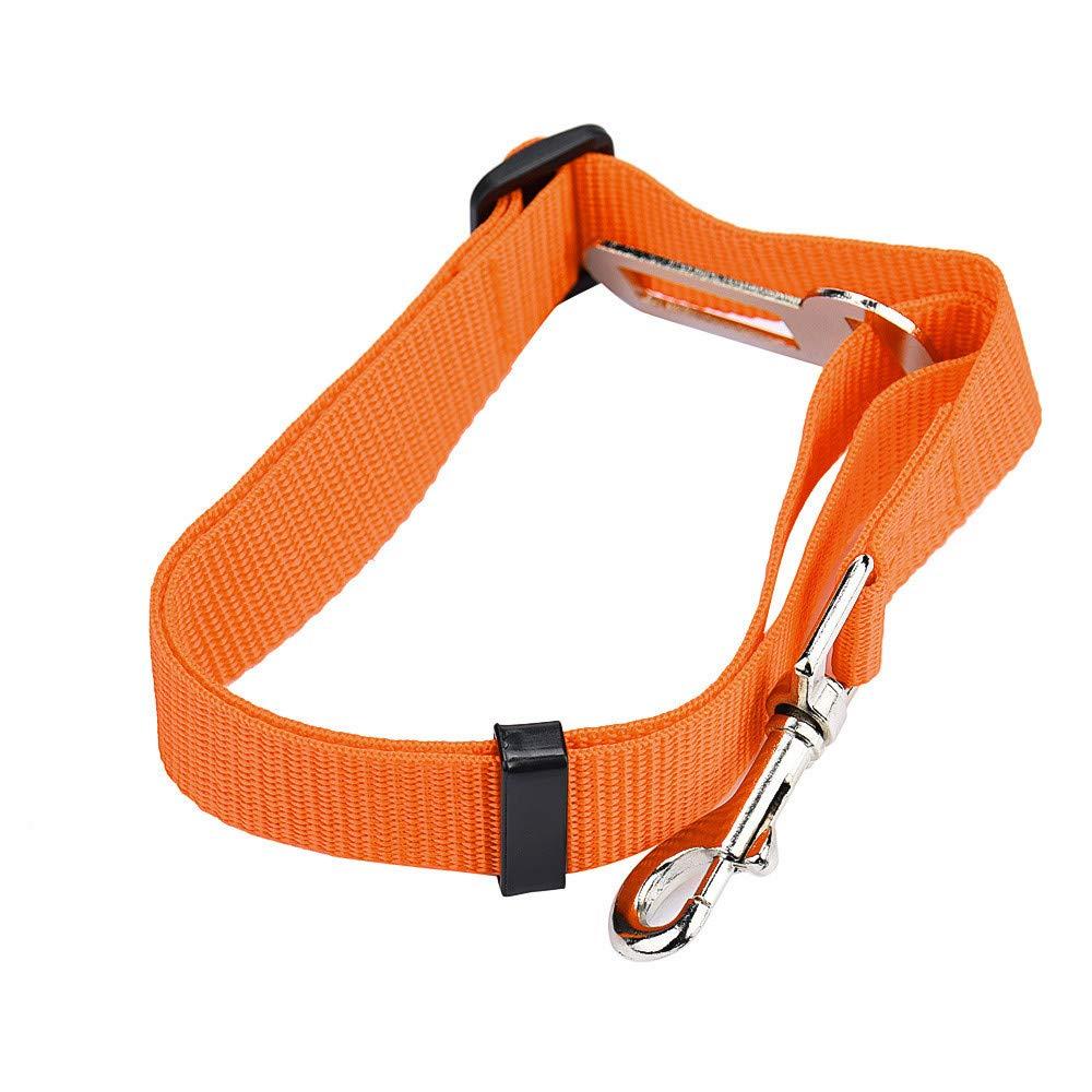 Suma-ma Green Orange Vehicle Car Seat Belt D-Buckle Dog Cat - Harness Lead Clip Puppy Seatbelt