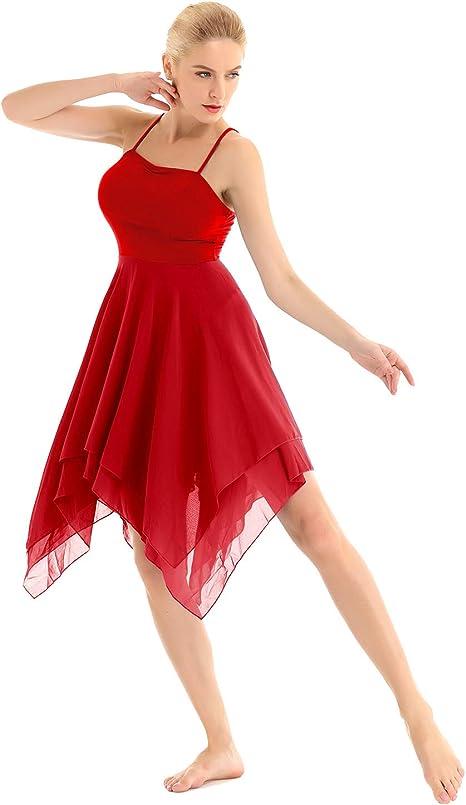 iixpin Vestido de Ballet para Mujer Maillot deTirantes Falda ...