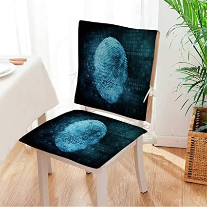 Amazon Com 2 Piece Set Chair Pad Security Concept Fingerprint On