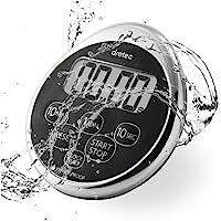 dretec Digital Timer, Water Proof, Shower, Magnetic Backing, Silver, Black, Officially Tested in Japan (1 Starter…