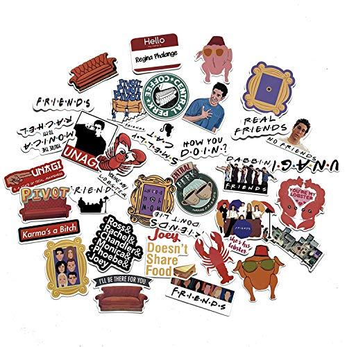 Merchandise Home - A Sticker Shop 34pcs Friends tv Show Creative DIY Stickers Funny Decorative Cartoon for Cartoon PC Luggage Computer Notebook Phone Home Wall Garden Window Snowboard
