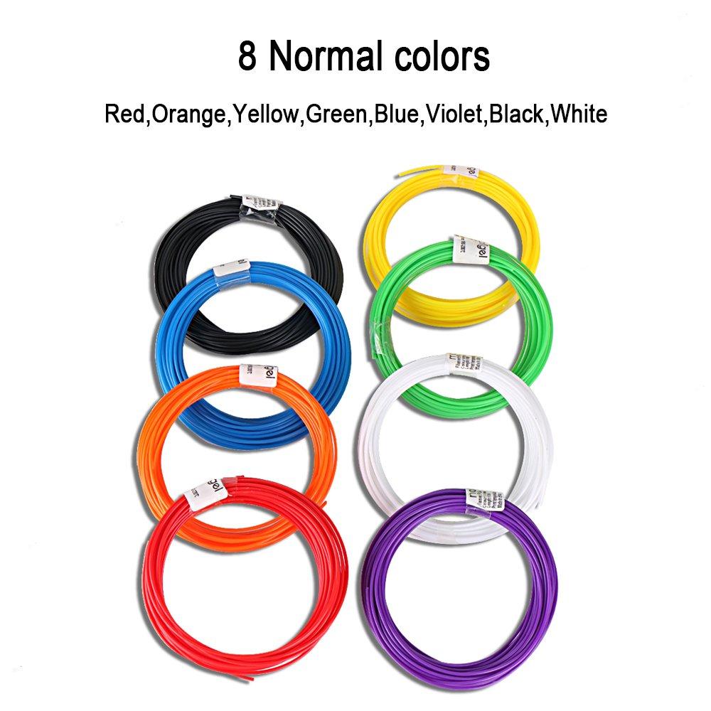 Recargas de filamento de Maigel 1.75mm PLA Material 20 Color 10M por color Filamento de la impresora 3D Pen