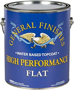 General Finishes High Performance Water Based Topcoat, 1 Gallon, Flat