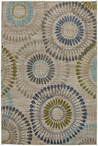 Tan Medallion - Mohawk Metropolitan Weston Lagoon Medallion Geometric Woven Area Rug, 5'3x7'10, Tan