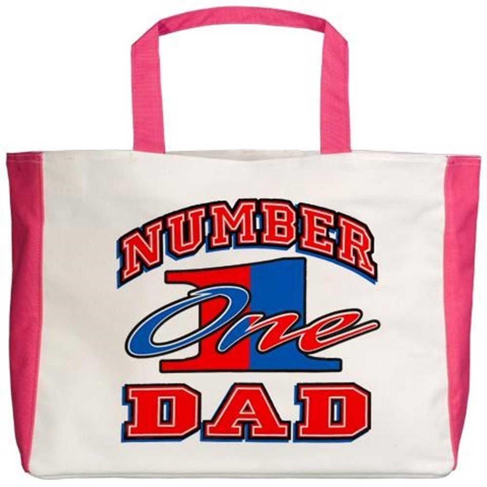 Royal Lion Beach Tote Number One Dad Father Fathers Day 2-Sided