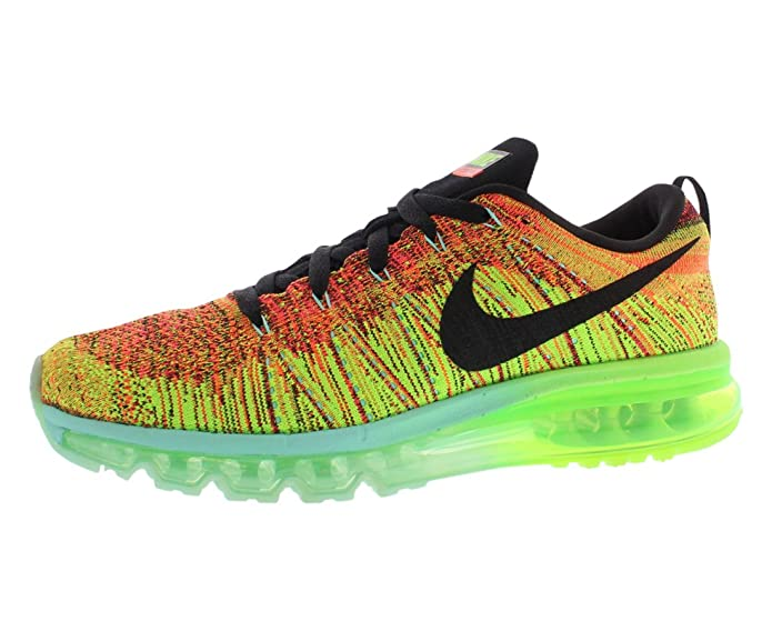 10c43595f068 NIKE Flyknit Air Max 620469-800 Crimson Black Electric Green Men s Running  Shoes (Size 12.5)  Amazon.co.uk  Shoes   Bags