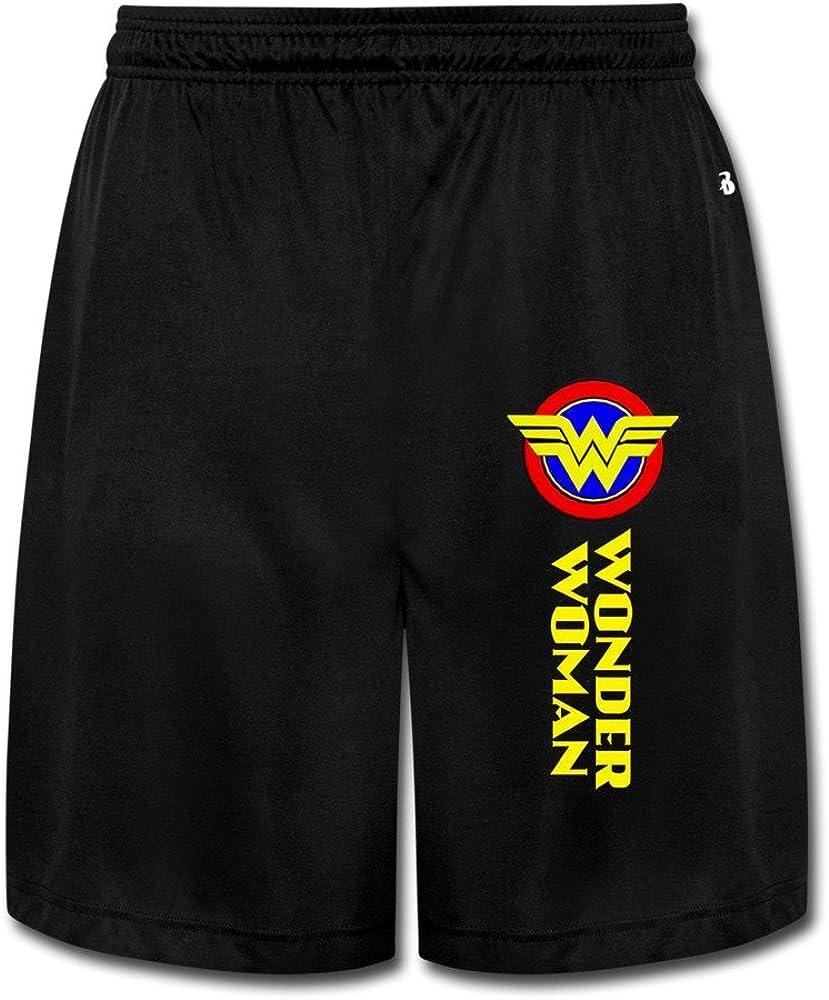 Hombres de Cool Wonder Woman jogging pantalones cortos negro