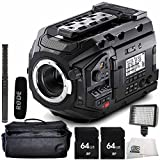 Blackmagic Design URSA Mini Pro 4.6K Digital Cinema Camera with Rode NTG2 Battery or Phantom Powered Condenser Shotgun Microphone 6PC Accessory Bundle – Includes 2x 64GB SD Memory Card + MORE
