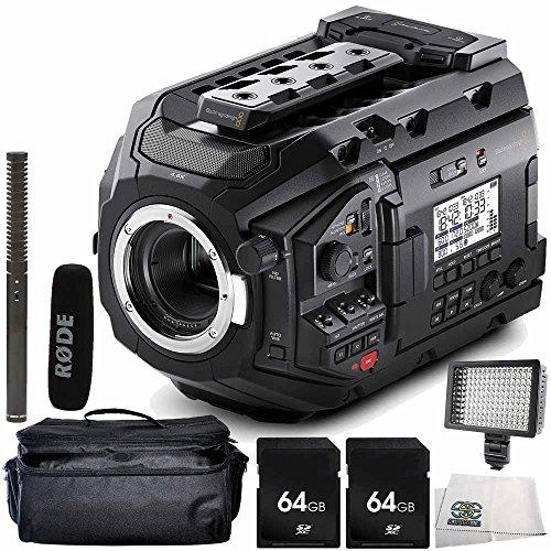 Blackmagic Design URSA Mini Pro 4.6K Digital Cinema Camera with Rode NTG2 Battery or Phantom Powered Condenser Shotgun Microphone 6PC Accessory Bundle – Includes 2x 64GB SD Memory Card + MORE by SSE