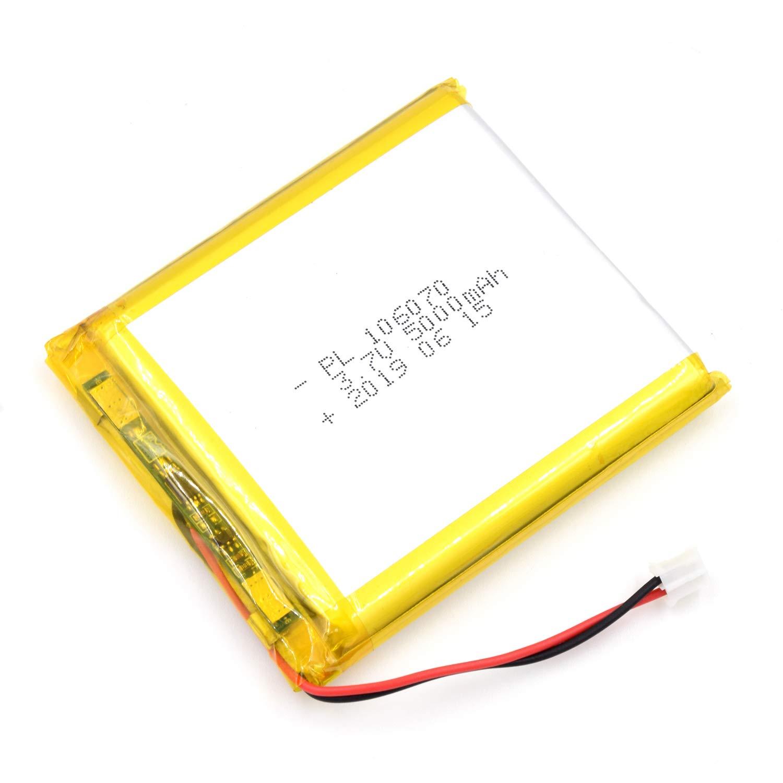 Bateria Lipo 3.7V 5000mAh 106070 Recargable JST Conector