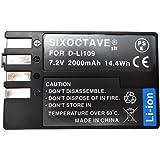 【str】Pentax ペンタックス D-LI109 大容量対応完全互換バッテリー(グレードAセル使用)2000mah K-r K-30 K-50 K-S1 K-S2