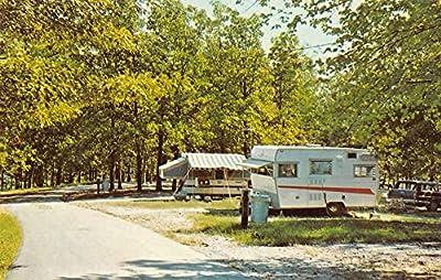 Hardin Kentucky camping at Kenlake State Resort Park vintage pc Z22482