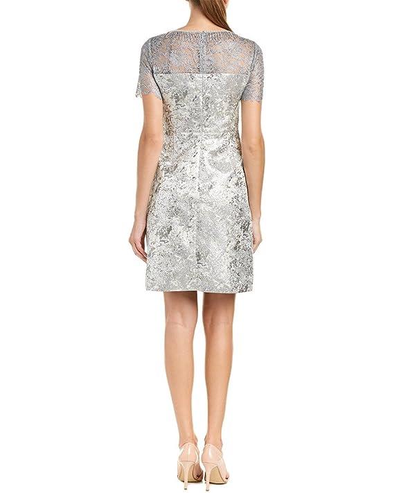 c8d9bc2a3a53 T Tahari Womens Serina Metallic Fringe Cocktail Dress at Amazon Women's  Clothing store: