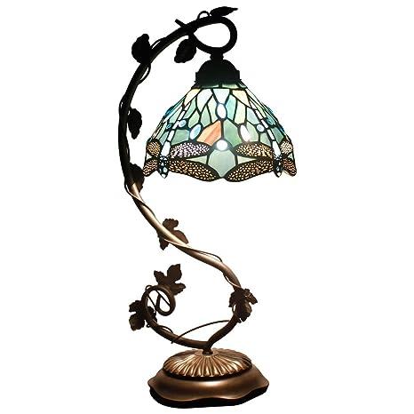 Tiffany Lámparas de mesa de cristal templado lámpara de ...