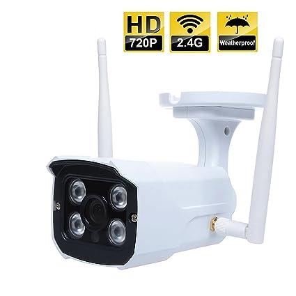Cámara Impermeable Metálica Video Vigilancia Exterior e Interior IP WiFi P2P Camara IR Nocturna HD 720p