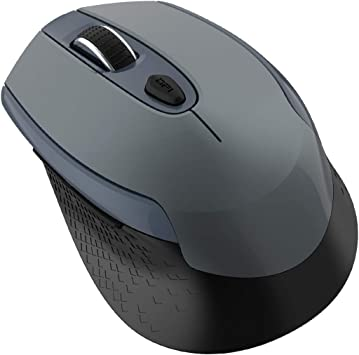 Black 6 Buttons Optical Mouse Cimetech 2.4G Cordless Mouse for Laptop with USB Receiver Comfortable Click Computer Mice Multifunctional Wireless Mouse