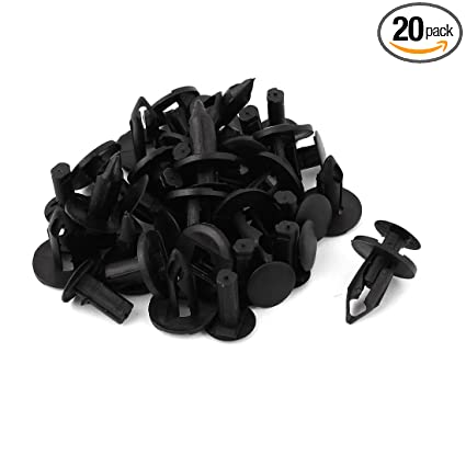 uxcell 20 Pcs Gray Trim Panel Fastener Clips 7.5mm Hole