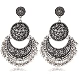Fashion Women Boho Ethnic Tassel Coin Drop Dangle Vintage Earrings Jewelry Gift ERAWAN (Silver)