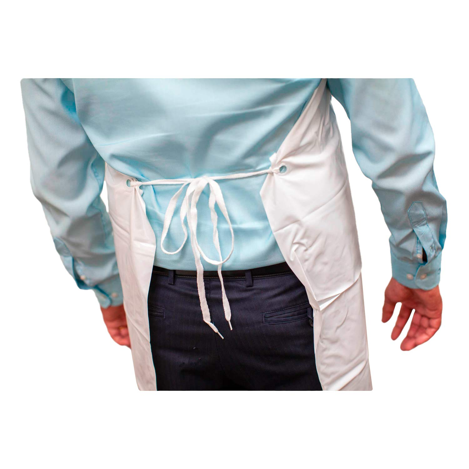 SAFE HANDLER PVC Apron   Smooth finish to Prevent Bacterial Growth, Comfortable, Easily Adjustable, Waterproof Material, WHITE (Case of 50) by Safe Handler (Image #7)