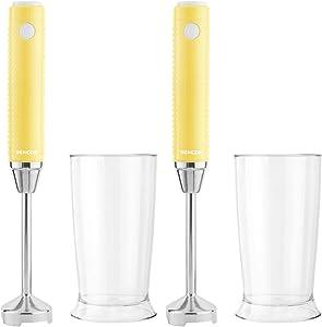 Sencor Extra Slim Hand Blender Bundle (Sunflower Yellow, 2-Pack) (2 Items)