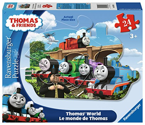 Engines Thomas Floor Puzzle - Ravensburger Thomas & Friends: World Shaped Floor Puzzle (24 Piece)