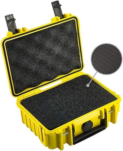 B/&W Transportkoffer Outdoor Typ 500 gelb bruchsicher und unverw/ünstlich staubsicher wasserdicht nach iP67 Zertifizierung