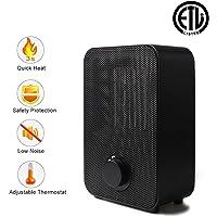 Liecho 1500W/750W Portable Ceramic Heater (Black)