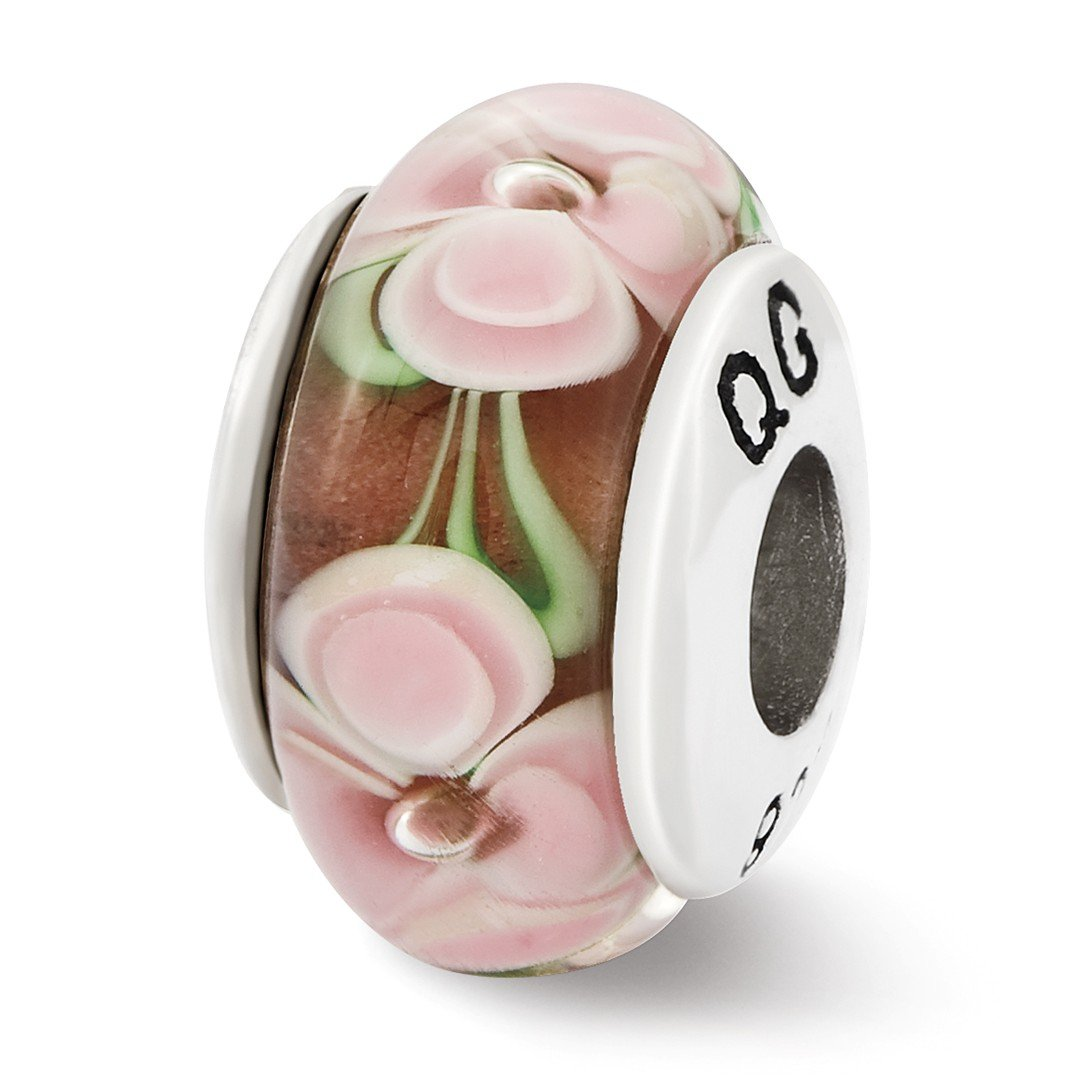 ICE CARATS 925 Sterling Silver Charm For Bracelet Pink Flower Hand Blown Glass Bead Glas H Fine Jewelry Ideal Gifts For Women Gift Set From Heart