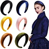 Headbands Women Hair Head Band- Knotted Wide Turban headband Fashion Cute Hairbands Hair Accessories for Girls and Women 6 Pieces Headbands Made of Shiny Soft PU
