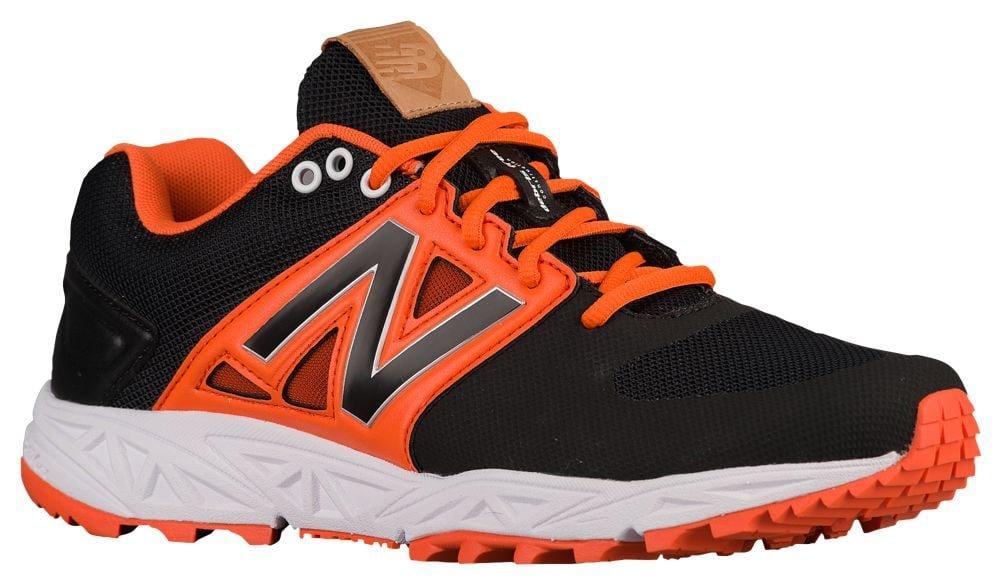 [ニューバランス] New Balance 3000V3 Trainer メンズ ベースボール [並行輸入品] B0719LCHXF US07.0|ブラック/オレンジ ブラック/オレンジ US07.0
